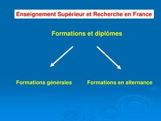 Formations et diplômes
