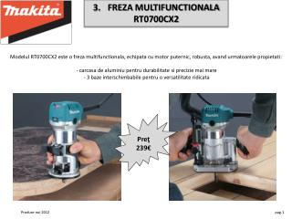 FREZA MULTIFUNCTIONALA  RT0700CX2