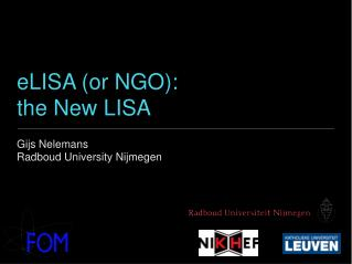 eLISA (or NGO): the New LISA