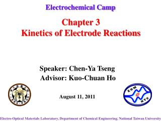 Chapter 3 Kinetics of Electrode Reactions