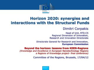 Horizon 2020: synergies and interactions with the Structural Funds