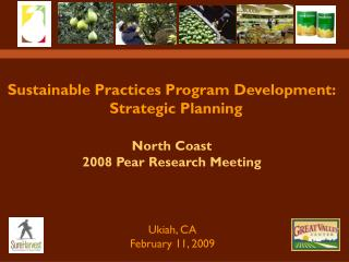 Sustainable Practices Program Development:   Strategic Planning