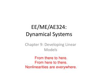 EE/ME/AE324: Dynamical Systems