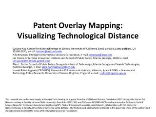 Patent Overlay Mapping: Visualizing Technological Distance