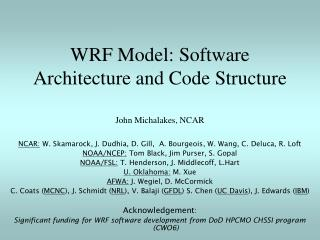 WRF Model: Software Architecture and Code Structure