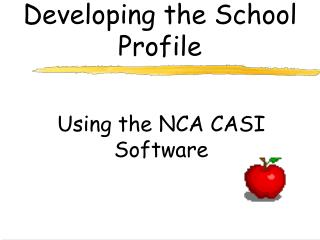 Developing the School Profile