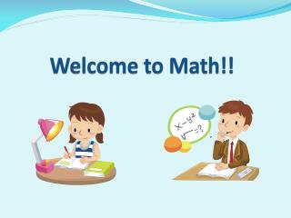 Welcome to Math!!