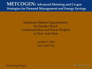 METCOGEN: Advanced Metering and Co-gen Strategies for Demand Management and Energy Savings