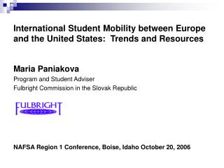 International Student Mobility between Europe and the United States:  Trends and Resources