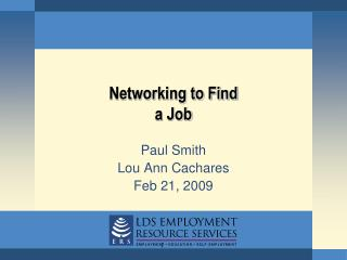 Networking to Find a Job