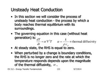Unsteady Heat Conduction