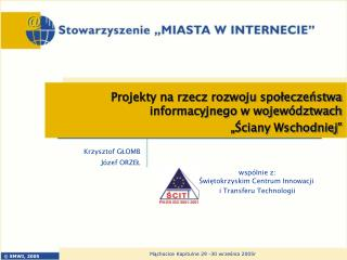 Krzysztof GŁOMB Józef ORZEŁ