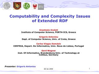 Computability and Complexity Issues of Extended RDF