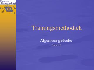 Trainingsmethodiek