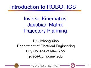 Inverse Kinematics Jacobian Matrix Trajectory Planning