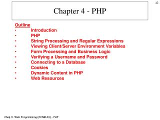 Chapter 4 - PHP