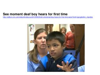 See moment deaf boy hears for first time