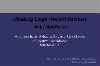 Handling Large (Vector) Datasets with MapServer