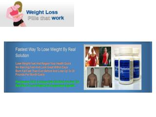 Getting to Know the Facts of Weight Loss Pills