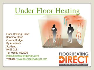 Solutions for all Electric Underfloor heating projects