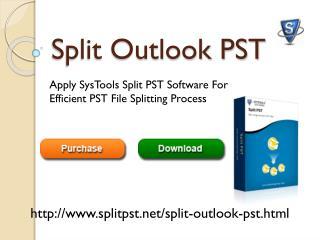Split Outlook PST