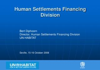 Human Settlements Financing Division