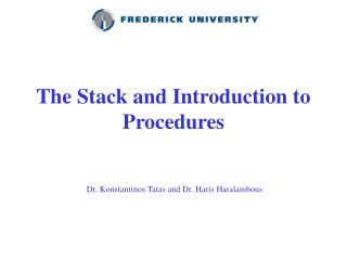 The Stack and Introduction to Procedures