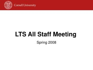 LTS All Staff Meeting