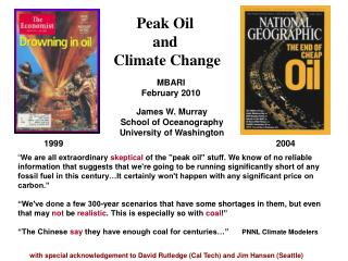 Peak Oil  and  Climate Change