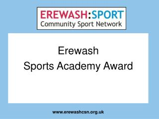 Erewash Sports Academy Award