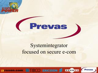Systemintegrator focused on secure e-com