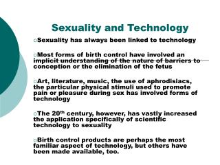 Sexuality and Technology
