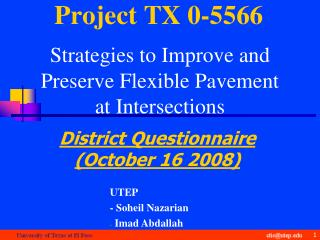 Project TX 0-5566