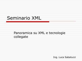 Seminario XML