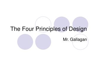 The Four Principles of Design