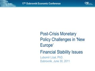 17 th Dubrovnik Economic Conference