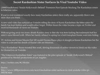 Secret Kardashian Sister Surfaces In Viral Youtube Video