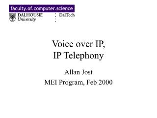 Voice over IP, IP Telephony