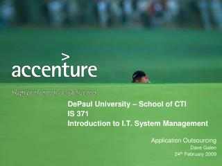 DePaul University – School of CTI IS 371 Introduction to I.T. System Management