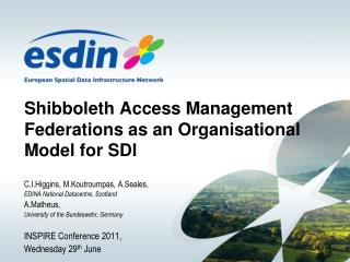 Shibboleth Access Management Federations as an Organisational Model for SDI
