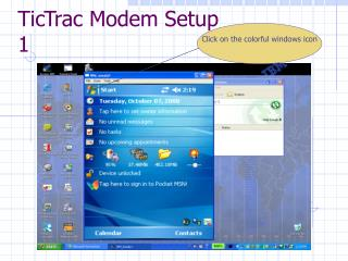 TicTrac Modem Setup 1