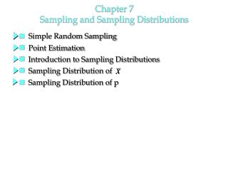 Chapter 7  Sampling and Sampling Distributions