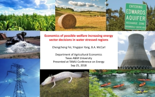 Economics of possible welfare increasing energy sector decisions in water stressed regions