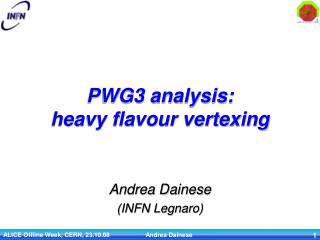 PWG3 analysis: heavy flavour vertexing
