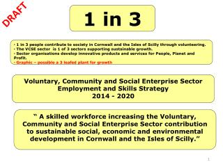 Voluntary, Community and Social Enterprise Sector Employment and Skills Strategy 2014 - 2020