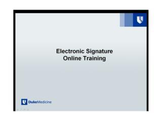 eSignature Online Training Quiz