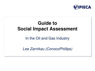 Guide to Social Impact Assessment