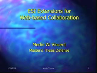 ESI Extensions for  Web-based Collaboration