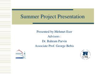 Summer Project Presentation