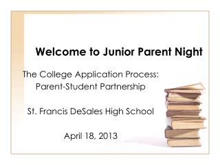 Welcome to Junior Parent Night